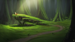 1227x698_12100_Centaur_Rendezvous_Point_2d_fantasy_forest_place_centaur_meeting_rendezvous_picture_image_digital_art
