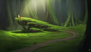 1227x698_12100_Centaur_Rendezvous_Point_2d_fantasy_forest_place_centaur_meeting_rendezvous_picture_image_digital_art